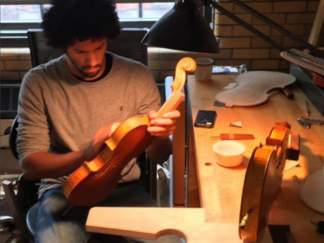 Boston Violin Maker Marcus Bretto